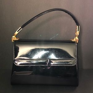 Vintage inspired Patton leather  60s handbag